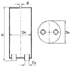 Вертикальный воздухосборник ВСВ - рабочие чертежи