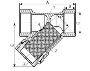 Фильтр ФММ муфтовый - схема