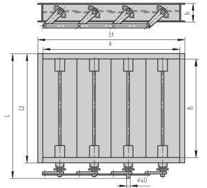 Четырехосный клапан ПГВУ 298-80 - рабочий чертеж!