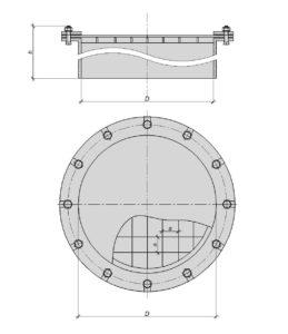 Рабочий чертеж - взрывной предохранительный клапан