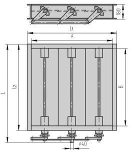 Чертеж - трехосный клапан ПГВУ 297-80