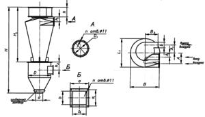 Циклон СИОТ-М1 чертеж