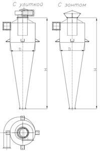 Чертеж циклон УЦ-38