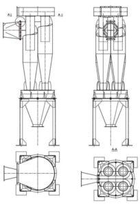 Циклон У21-ББЦ - чертеж