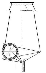 Чертеж пылеуловитель СИОТ сер.ОВ-02-99 тип.3