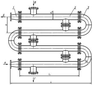Схема соединения секций подогревателя ПВ