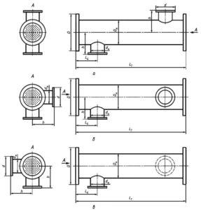 Подогреватели ГОСТ 27590-2005 - Типы исполнений